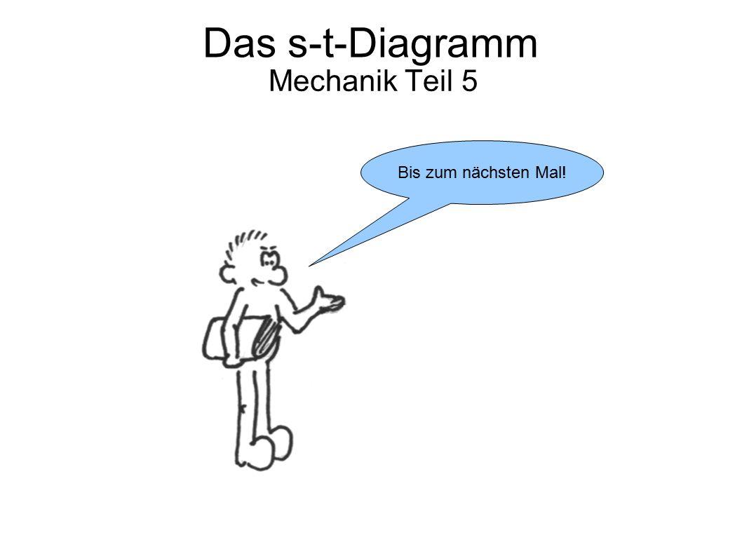 Das s-t-Diagramm Mechanik Teil 5 Bis zum nächsten Mal!