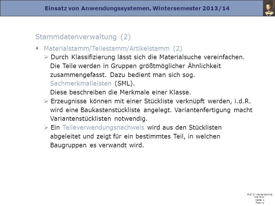Stammdatenverwaltung (2)