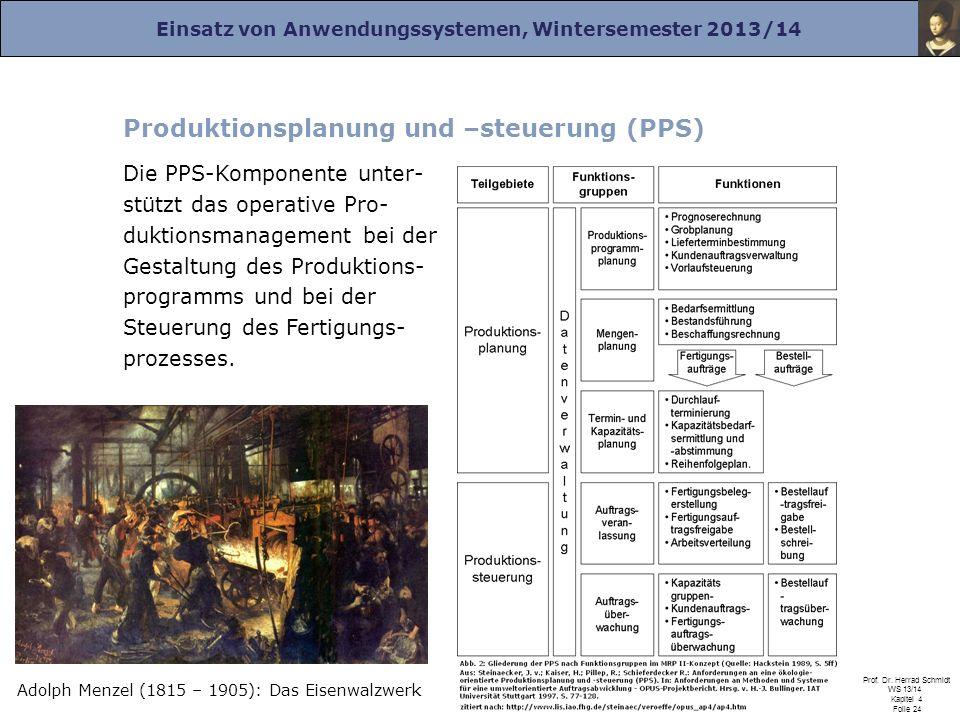 Produktionsplanung und –steuerung (PPS)