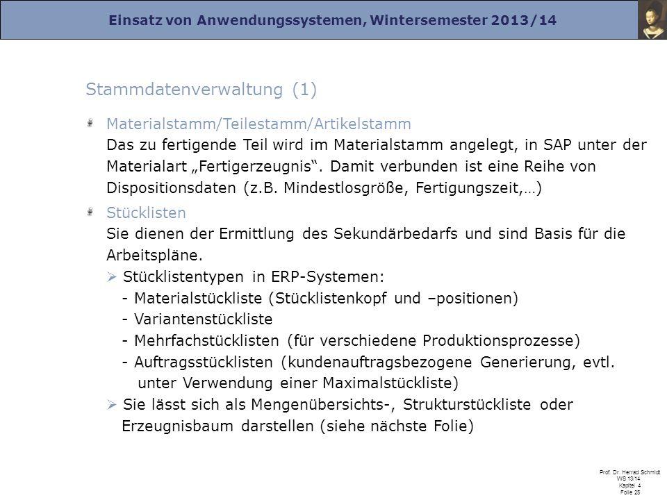 Stammdatenverwaltung (1)