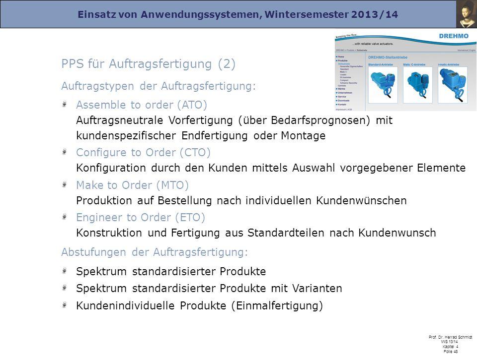 PPS für Auftragsfertigung (2)
