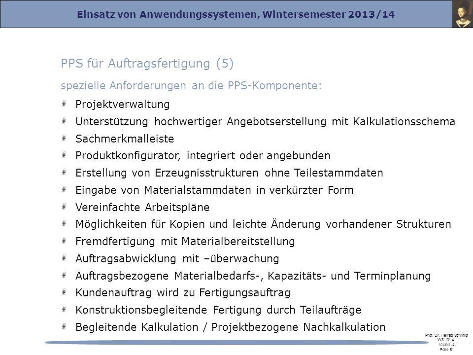 PPS für Auftragsfertigung (5)