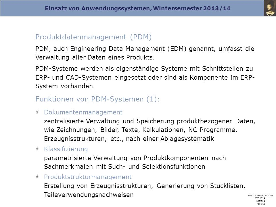 Produktdatenmanagement (PDM)
