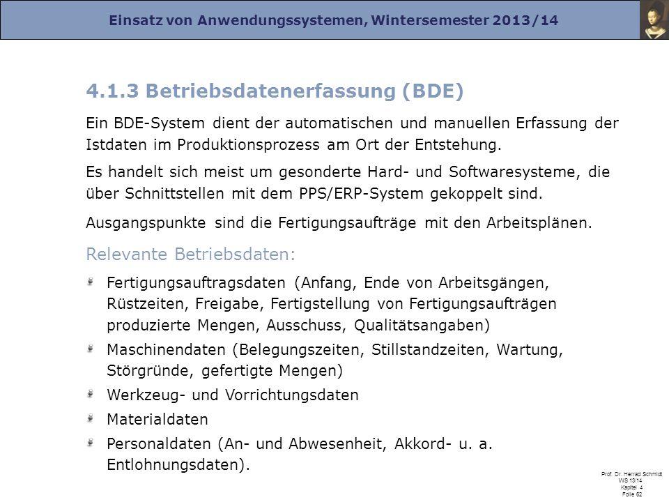4.1.3 Betriebsdatenerfassung (BDE)