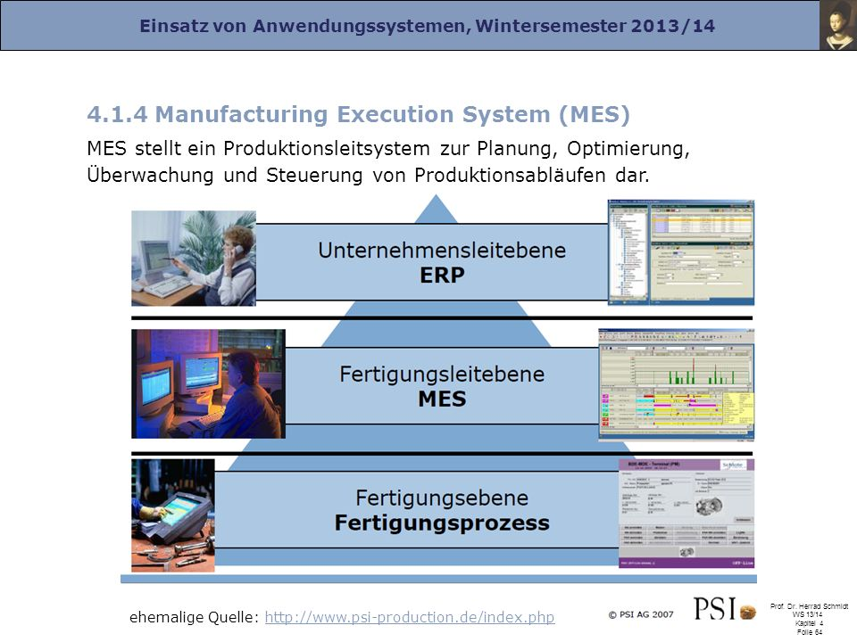 4.1.4 Manufacturing Execution System (MES)