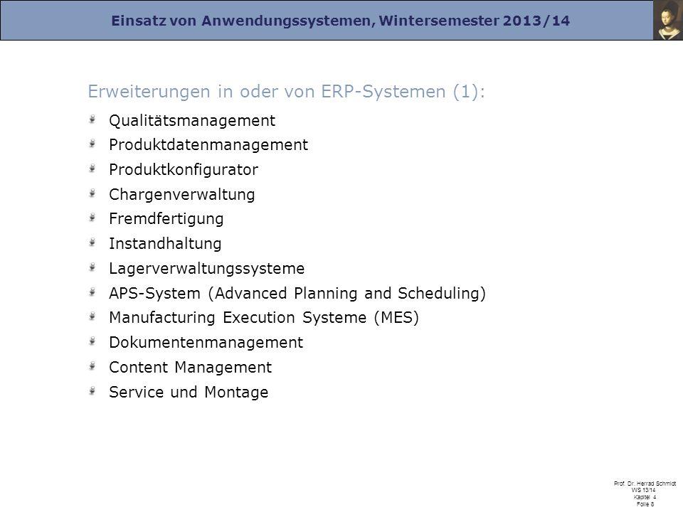 Erweiterungen in oder von ERP-Systemen (1):