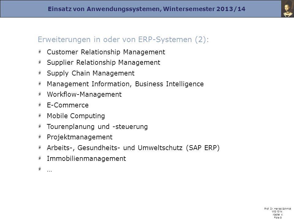 Erweiterungen in oder von ERP-Systemen (2):
