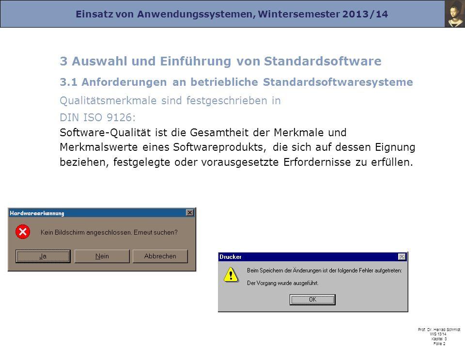 3 Auswahl und Einführung von Standardsoftware