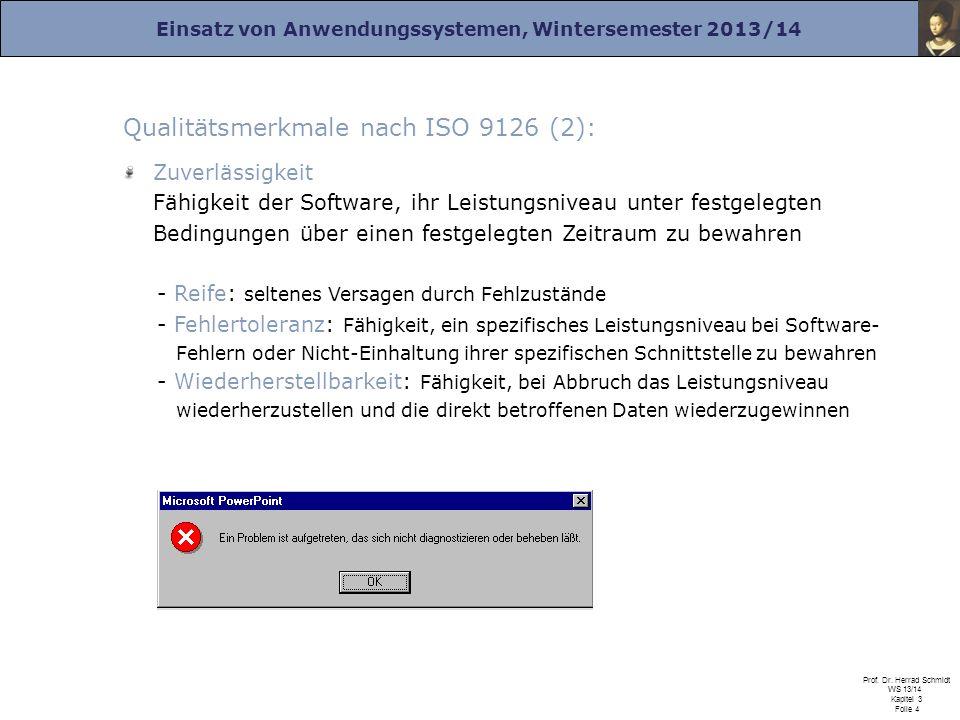 Qualitätsmerkmale nach ISO 9126 (2):