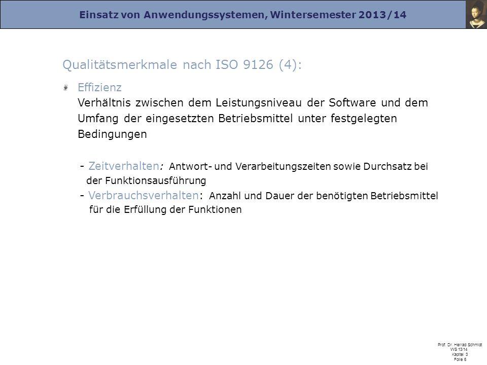 Qualitätsmerkmale nach ISO 9126 (4):