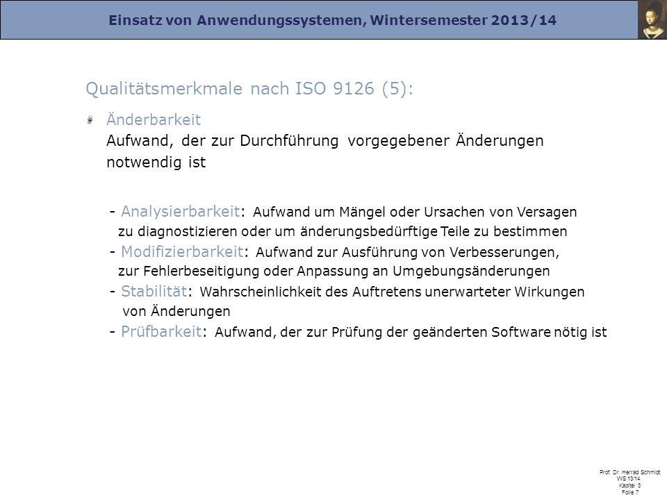 Qualitätsmerkmale nach ISO 9126 (5):