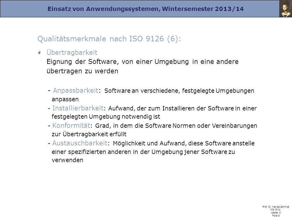 Qualitätsmerkmale nach ISO 9126 (6):