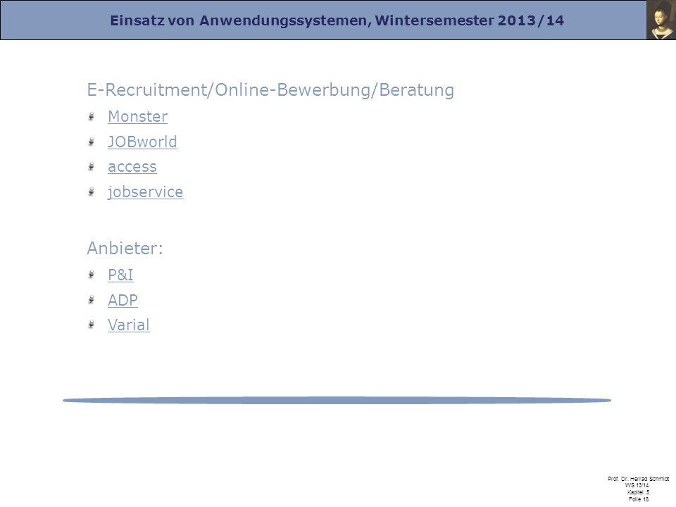 E-Recruitment/Online-Bewerbung/Beratung