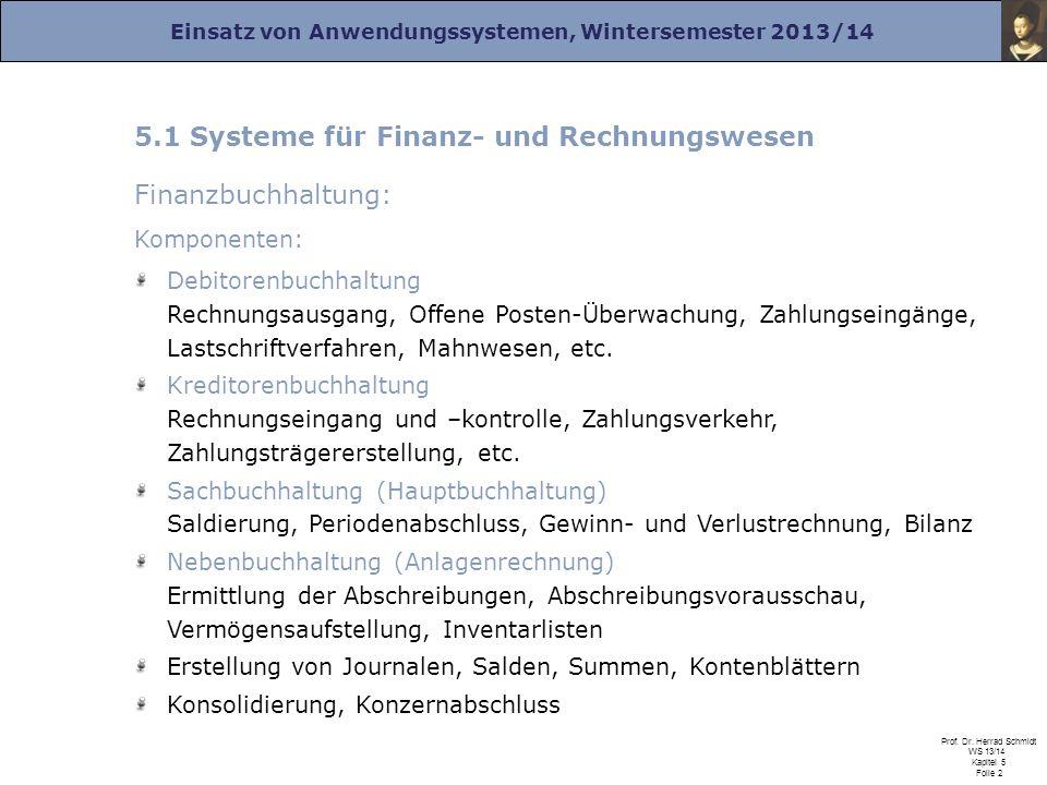 5.1 Systeme für Finanz- und Rechnungswesen