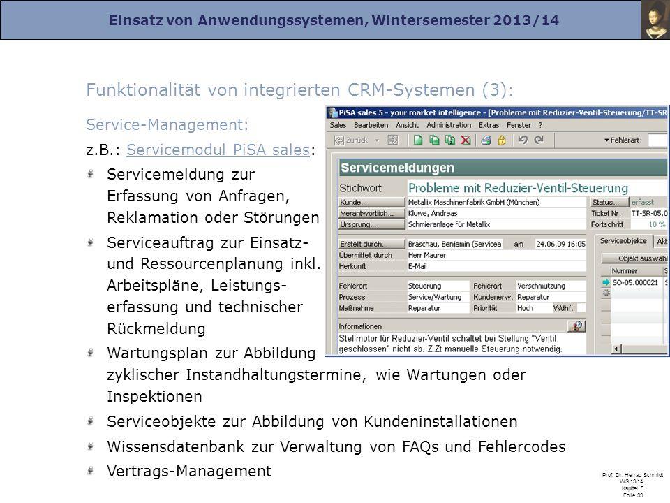 Funktionalität von integrierten CRM-Systemen (3):