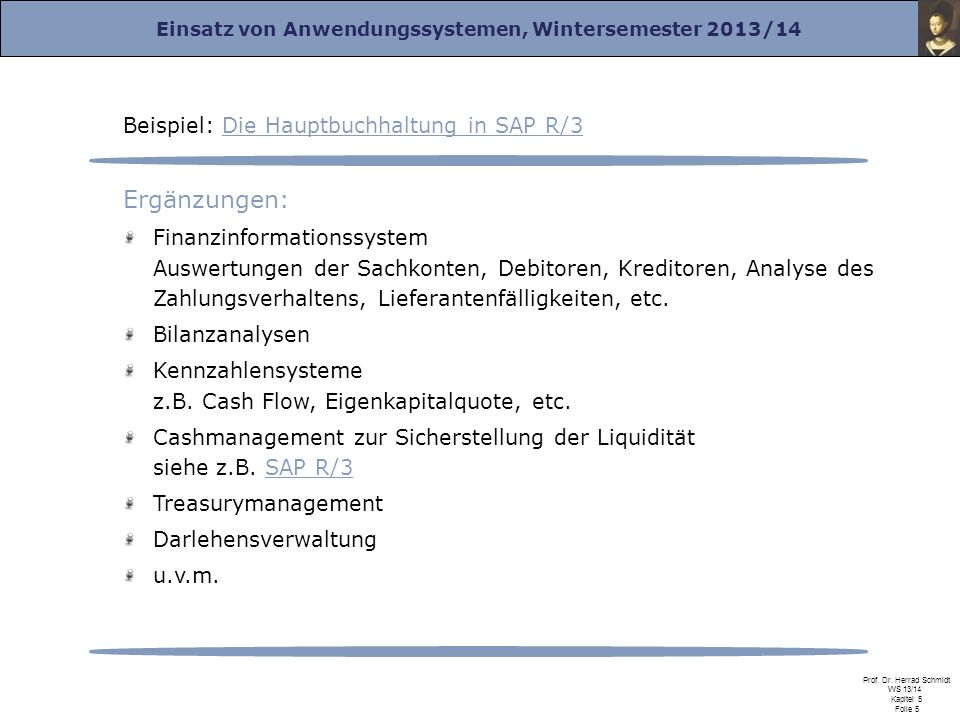 Ergänzungen: Beispiel: Die Hauptbuchhaltung in SAP R/3