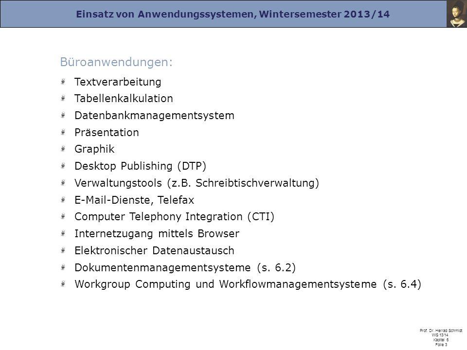 Büroanwendungen: Textverarbeitung Tabellenkalkulation