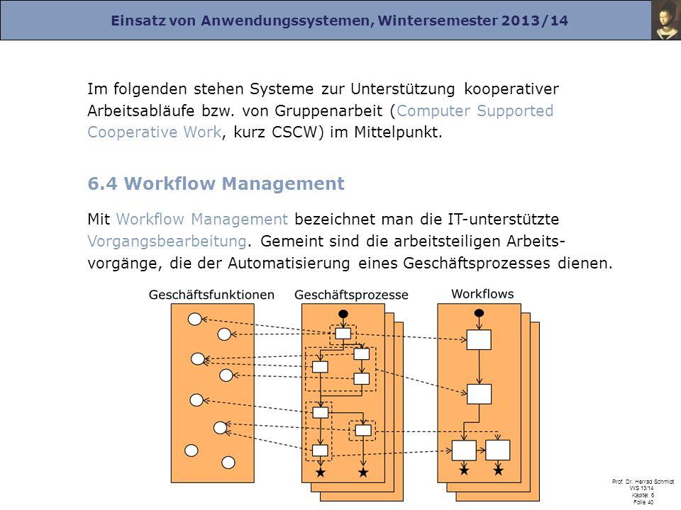 Im folgenden stehen Systeme zur Unterstützung kooperativer Arbeitsabläufe bzw. von Gruppenarbeit (Computer Supported Cooperative Work, kurz CSCW) im Mittelpunkt.