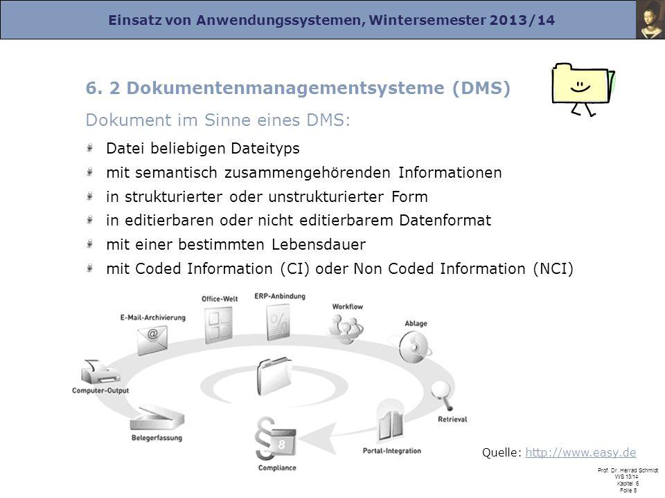6. 2 Dokumentenmanagementsysteme (DMS) Dokument im Sinne eines DMS: