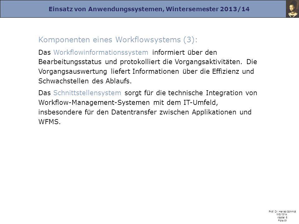 Komponenten eines Workflowsystems (3):