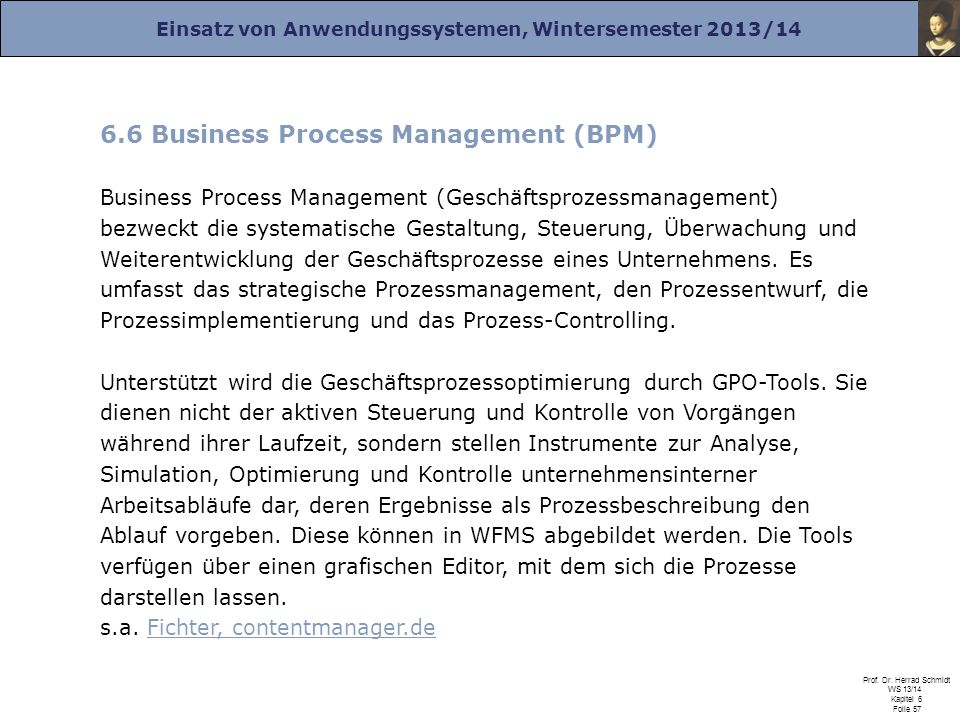 6.6 Business Process Management (BPM)