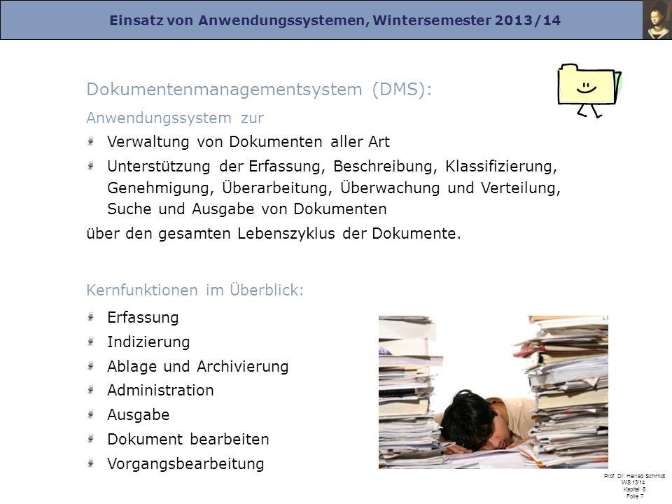 Dokumentenmanagementsystem (DMS):