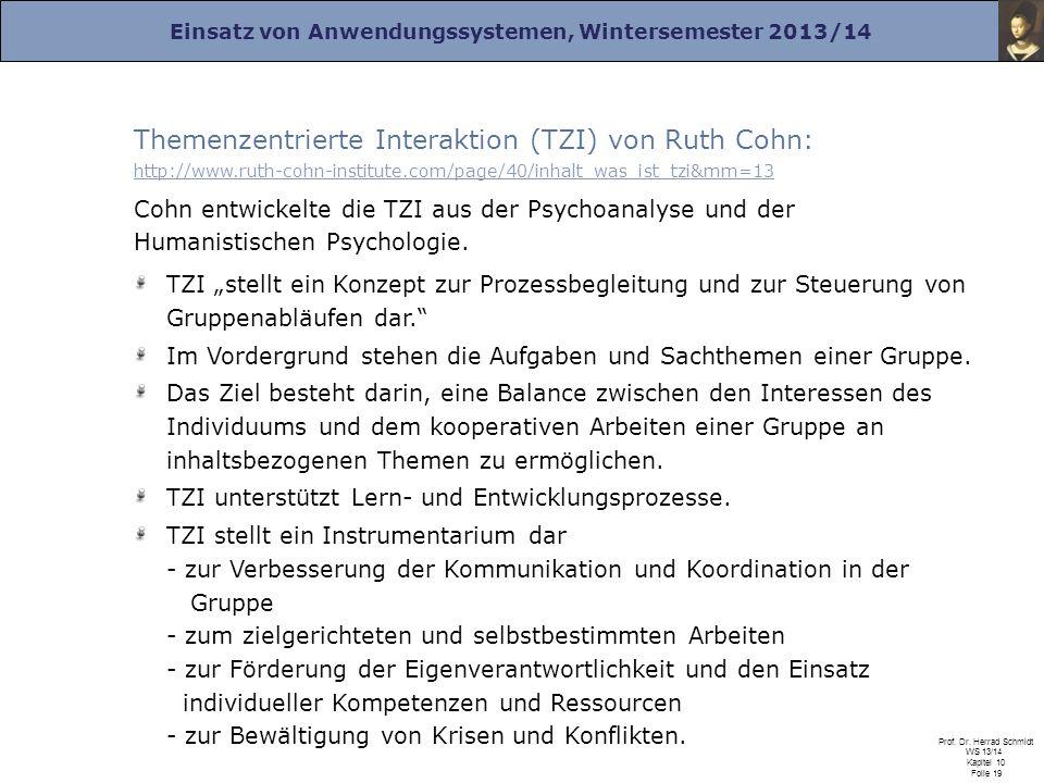 Themenzentrierte Interaktion (TZI) von Ruth Cohn: