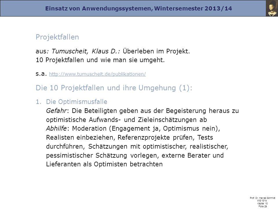 Die 10 Projektfallen und ihre Umgehung (1):