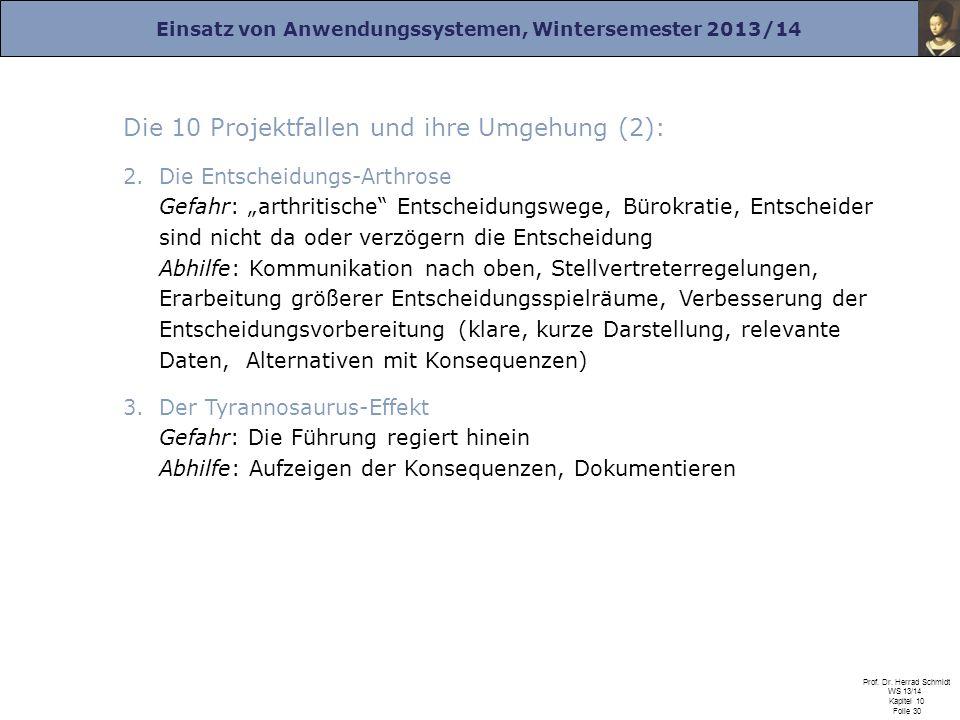 Die 10 Projektfallen und ihre Umgehung (2):