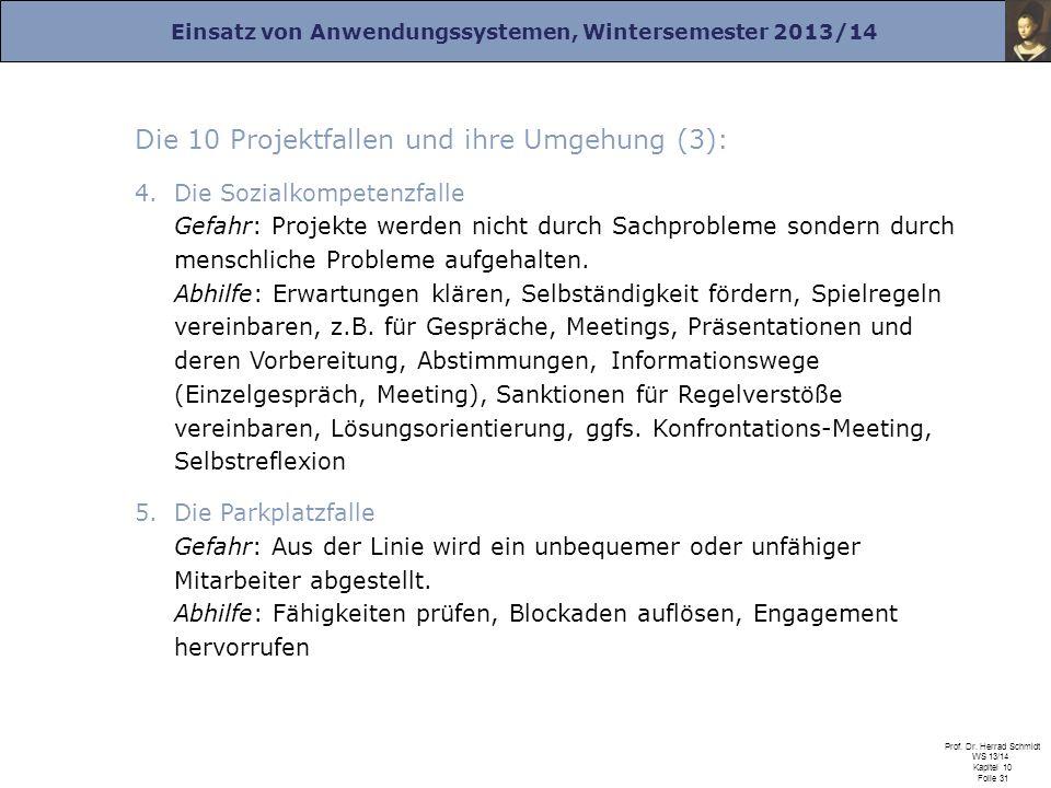 Die 10 Projektfallen und ihre Umgehung (3):