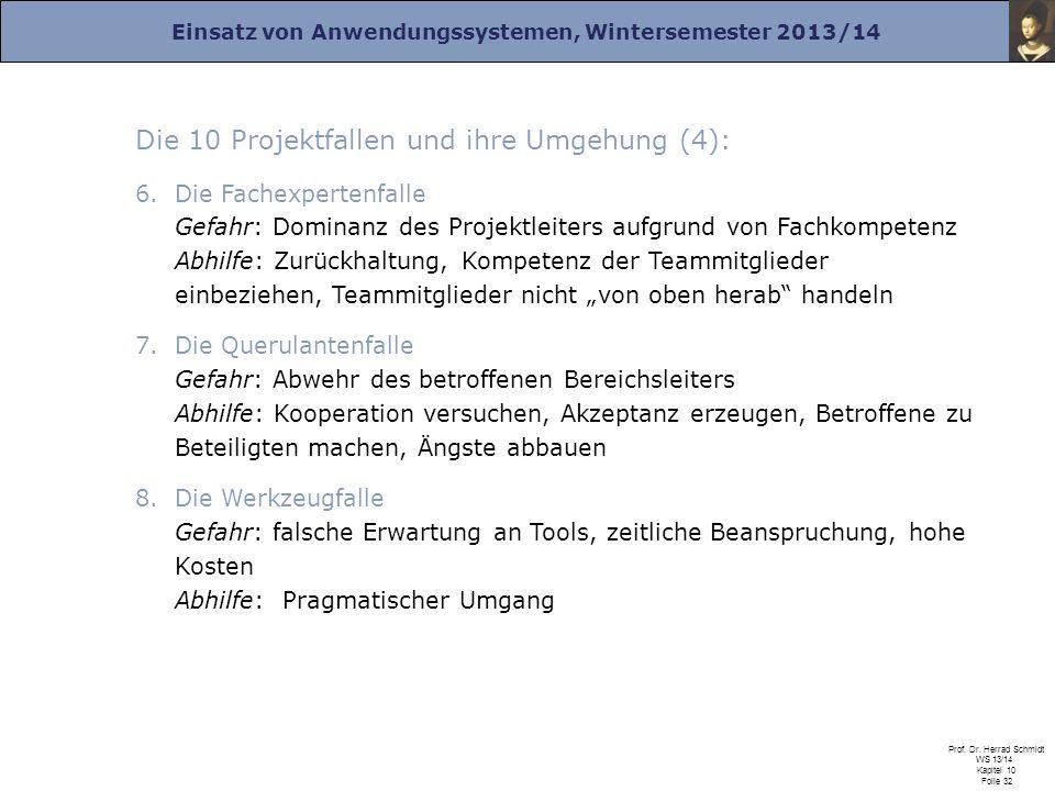 Die 10 Projektfallen und ihre Umgehung (4):