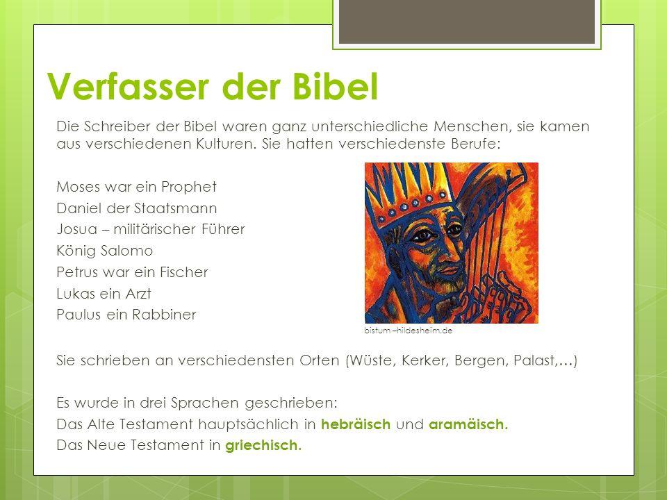 Verfasser der Bibel