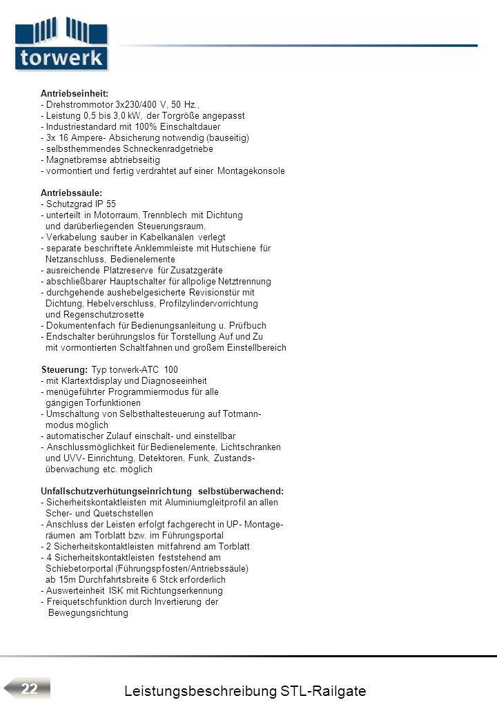 Leistungsbeschreibung STL-Railgate