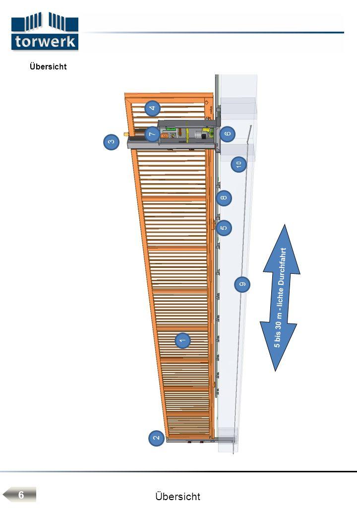 5 bis 30 m - lichte Durchfahrt
