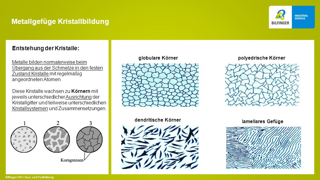 Metallgefüge Kristallbildung