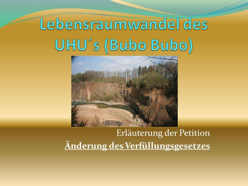 Lebensraumwandel des UHU´s (Bubo Bubo)