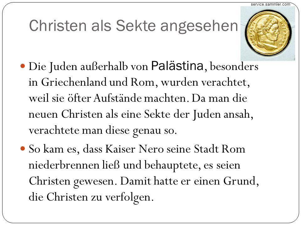 Christen als Sekte angesehen