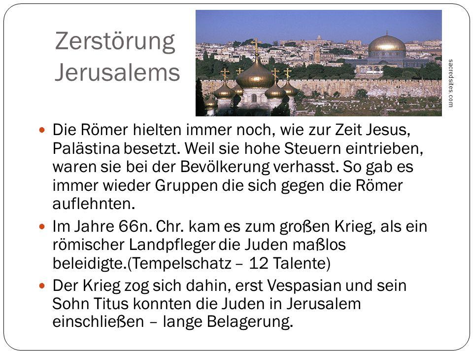 Zerstörung Jerusalems