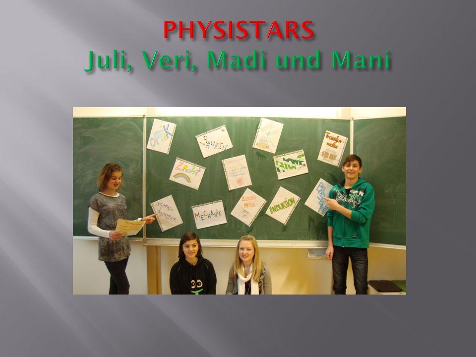 PHYSISTARS Juli, Veri, Madi und Mani