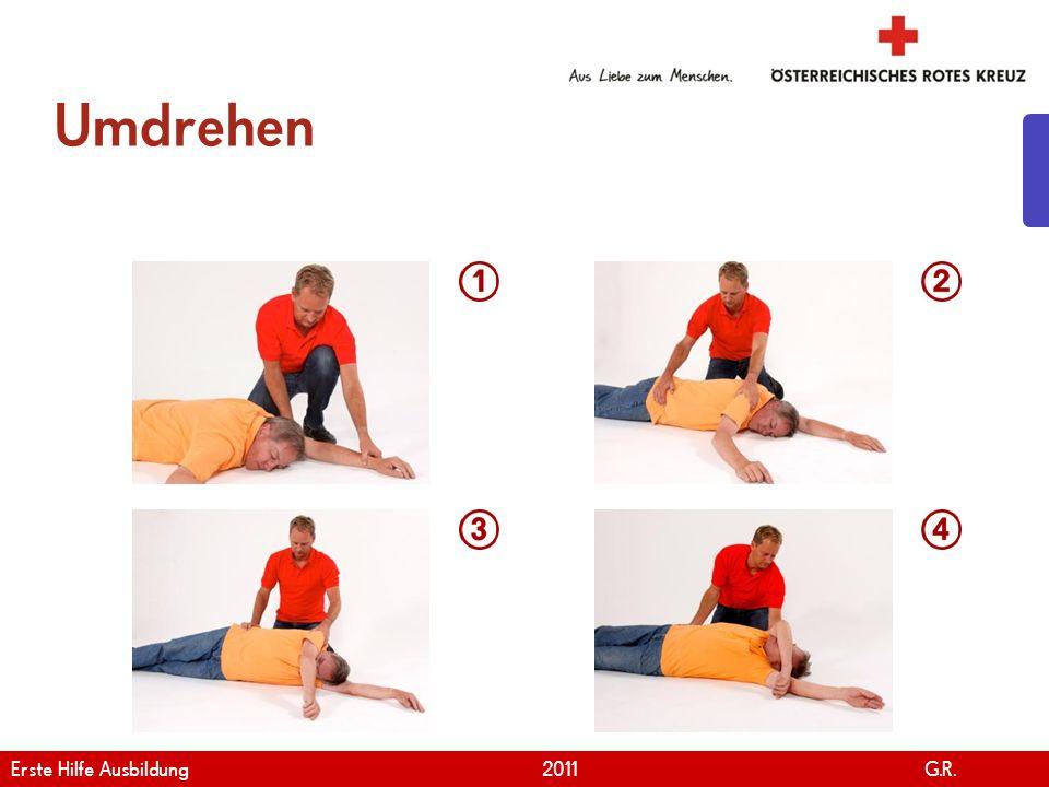 Umdrehen Erste Hilfe Ausbildung 2011 G.R.