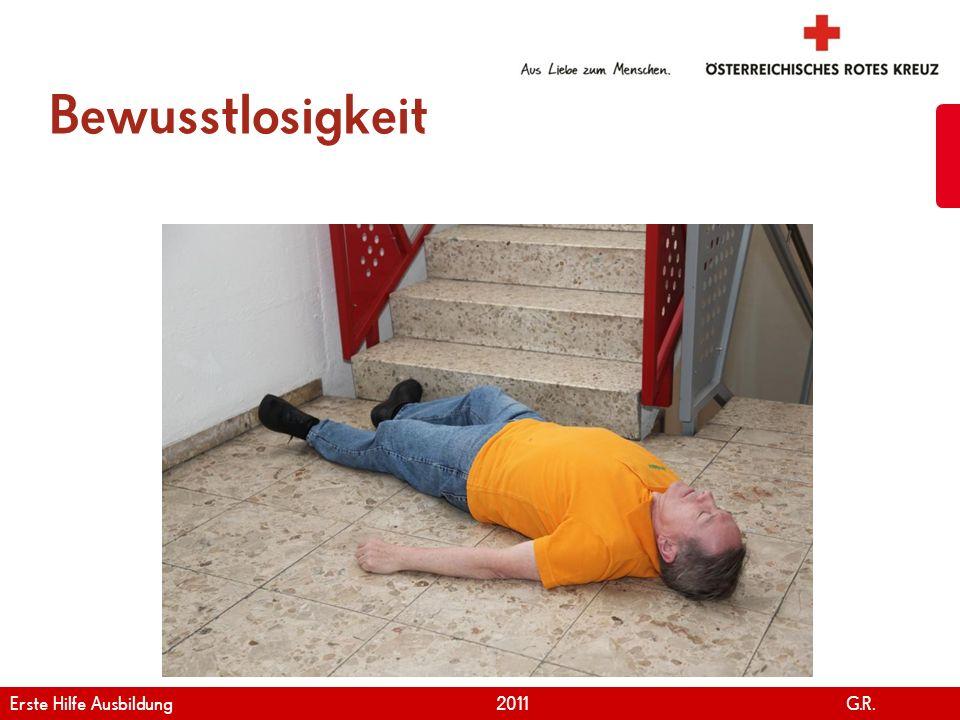 Bewusstlosigkeit Erste Hilfe Ausbildung 2011 G.R.