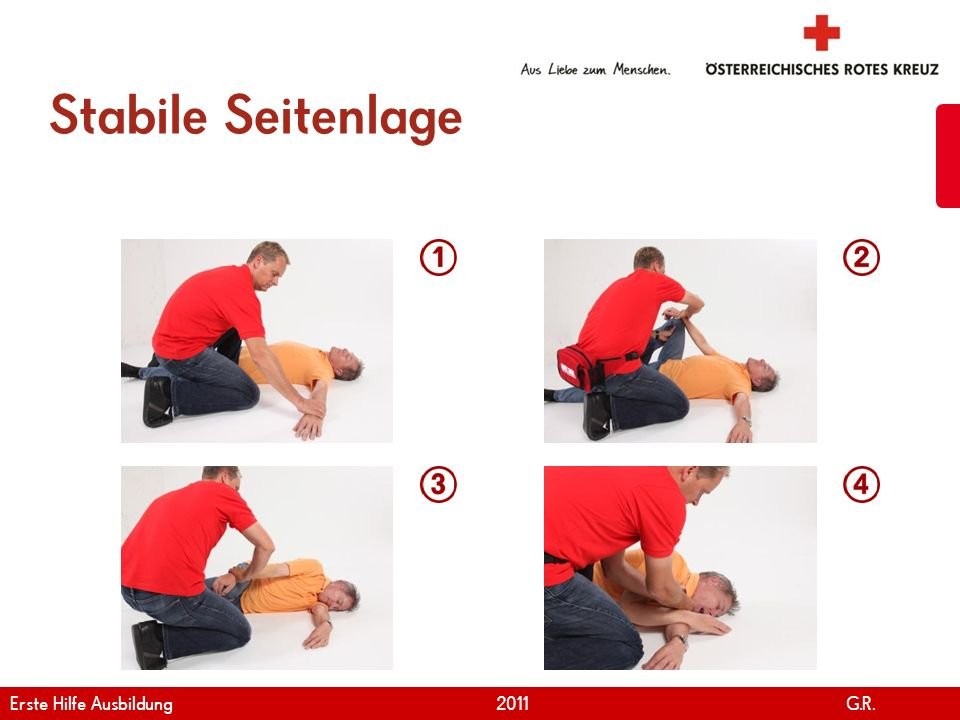 Stabile Seitenlage Erste Hilfe Ausbildung 2011 G.R.