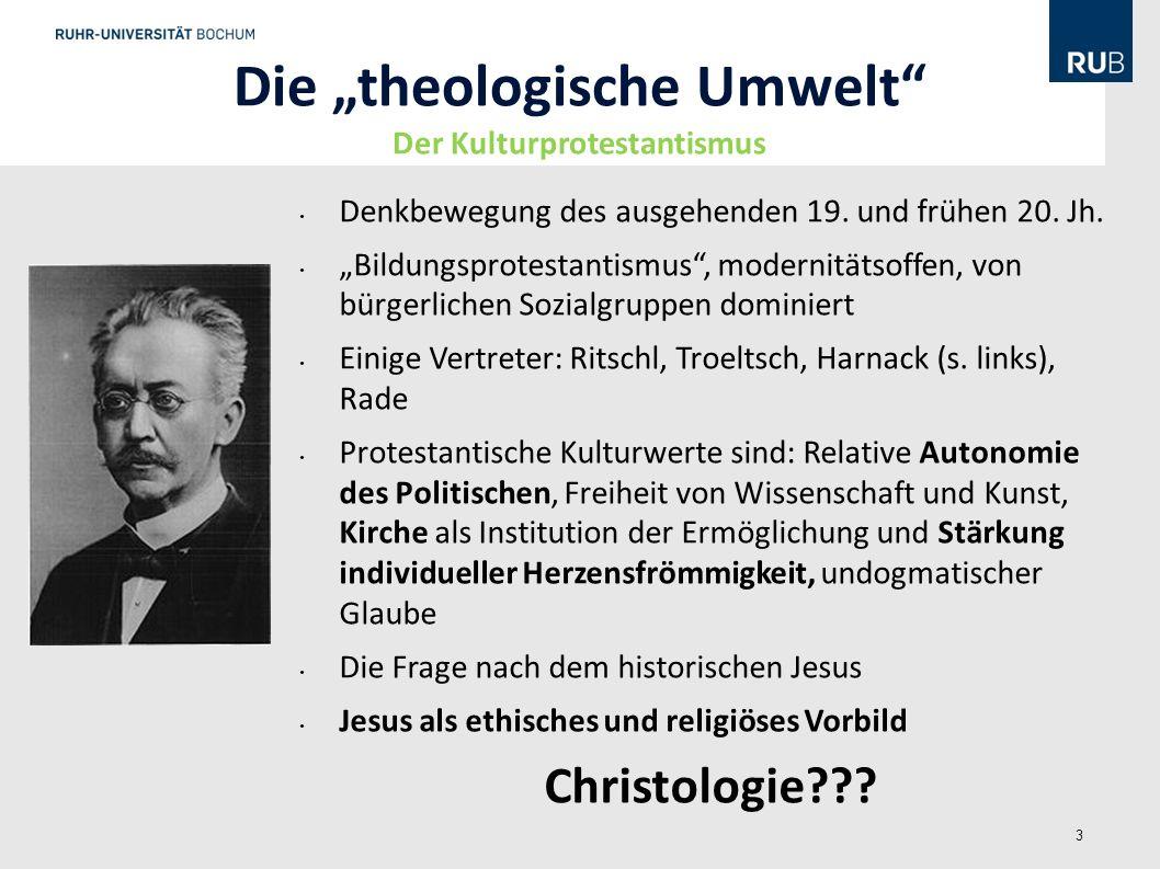 """Die """"theologische Umwelt Der Kulturprotestantismus"""