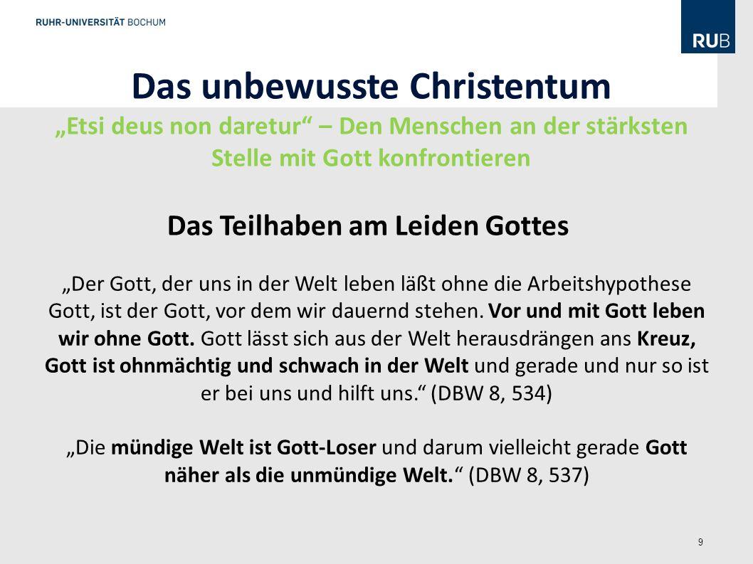 Das unbewusste Christentum