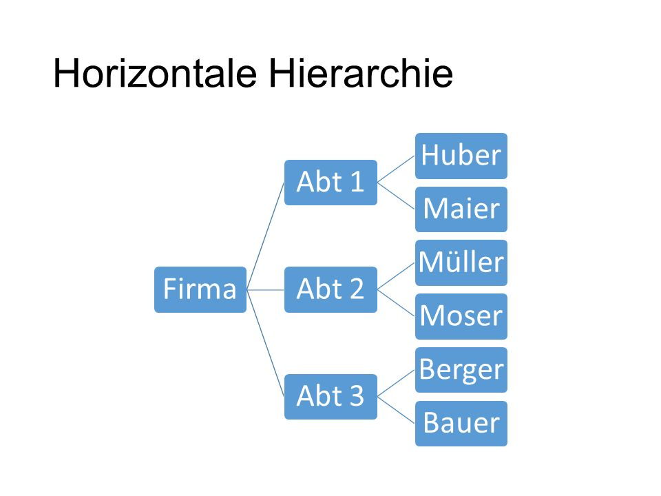 Horizontale Hierarchie