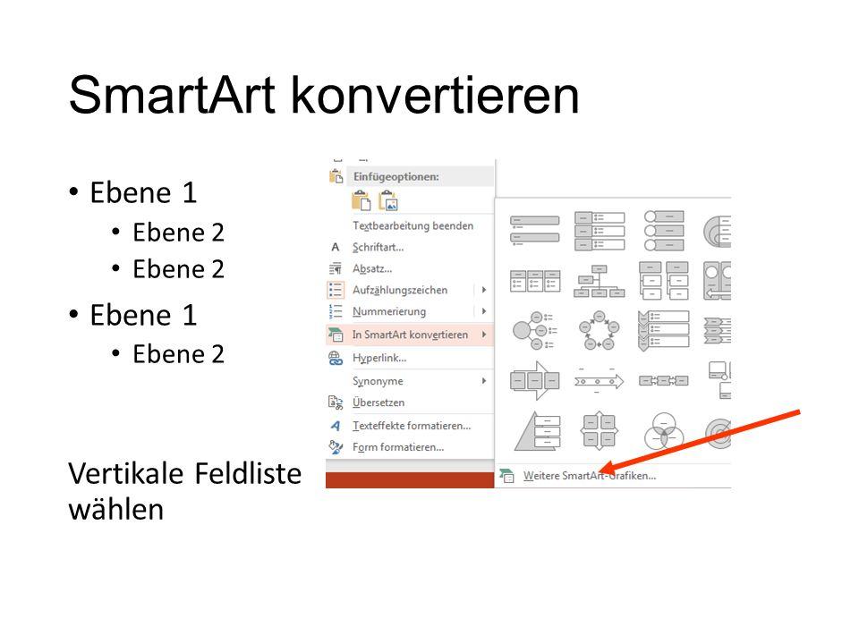 SmartArt konvertieren