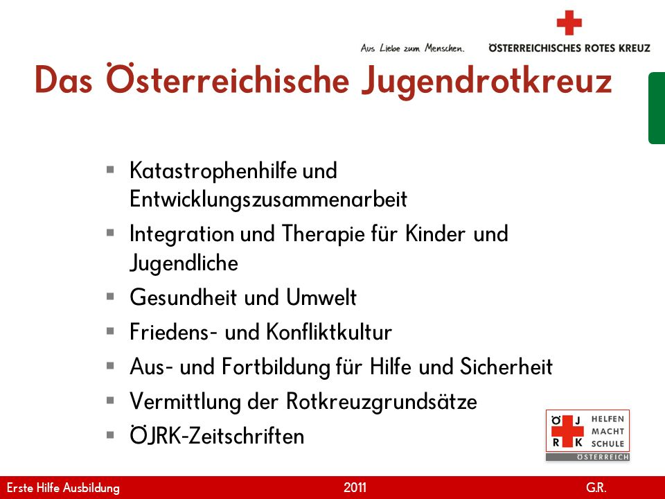 Das Österreichische Jugendrotkreuz