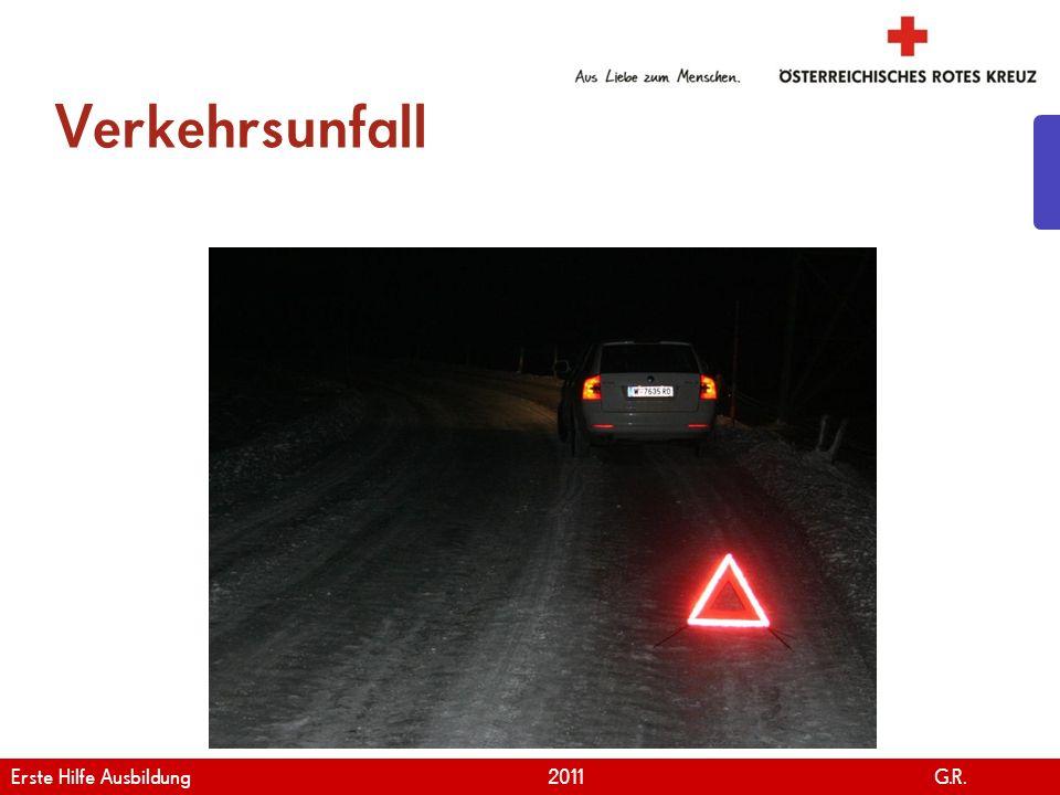Verkehrsunfall Erste Hilfe Ausbildung 2011 G.R.