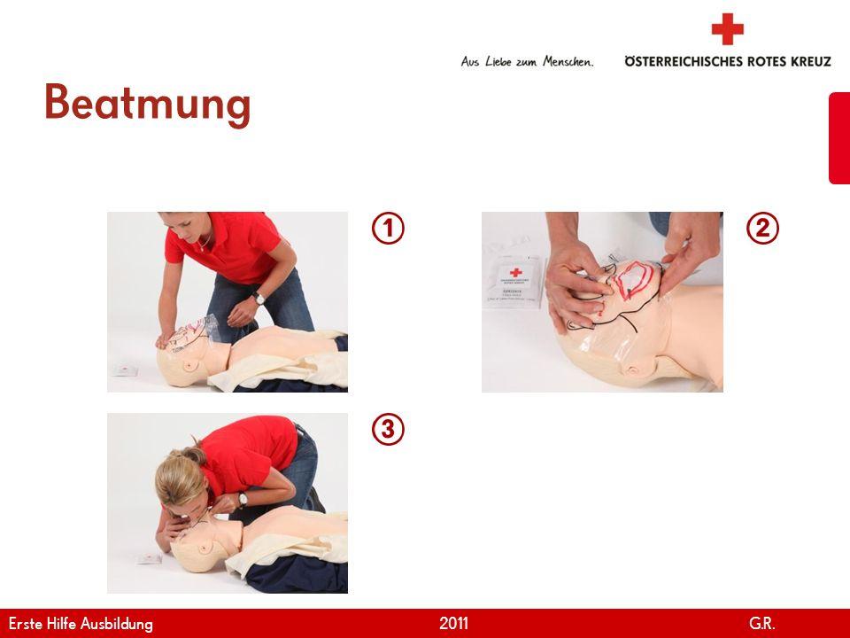 Beatmung Erste Hilfe Ausbildung 2011 G.R.