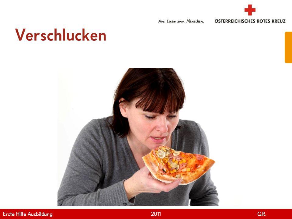 Verschlucken Erste Hilfe Ausbildung 2011 G.R.